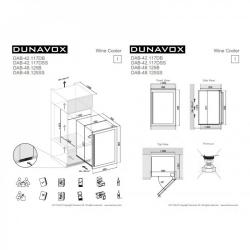Винный шкаф  Dunavox DAB-42.117DSS