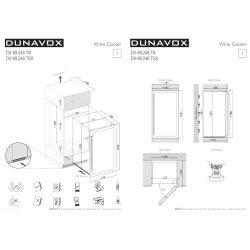 Винный шкаф Dunavox DX-89.246TSS
