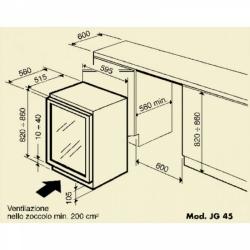 Винный шкаф IP Industrie JG 45-6 A X