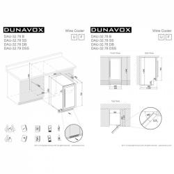 Винный шкаф Dunavox DAU-32.78DB
