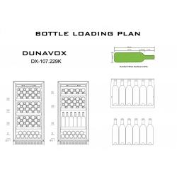 Винный шкаф  DUNAVOX DX-107.229K