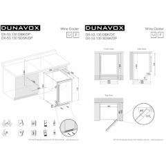 Винный шкаф Dunavox  DX-53.130DWK/DP
