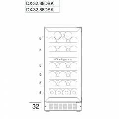 Винный шкаф Dunavox DX-32.88SDSK