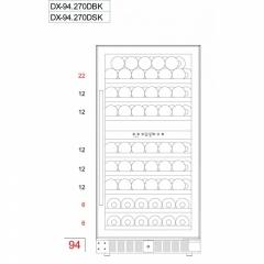 Винный шкаф DunavoxDX-94.270SDSK