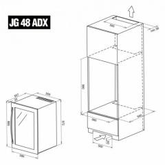 Винный шкаф IP Industrie JGP 48-6 AD X