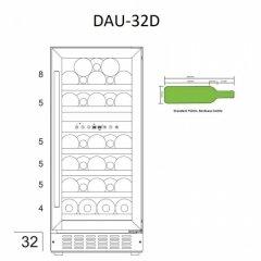 Винный шкаф  Dunavox DAU-32.81DSS